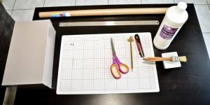 Le matériel nécessaire à la réalisation d'une boite de rangement