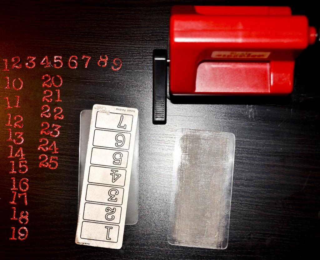 Fabrication des chiffres à coller sur ballotin