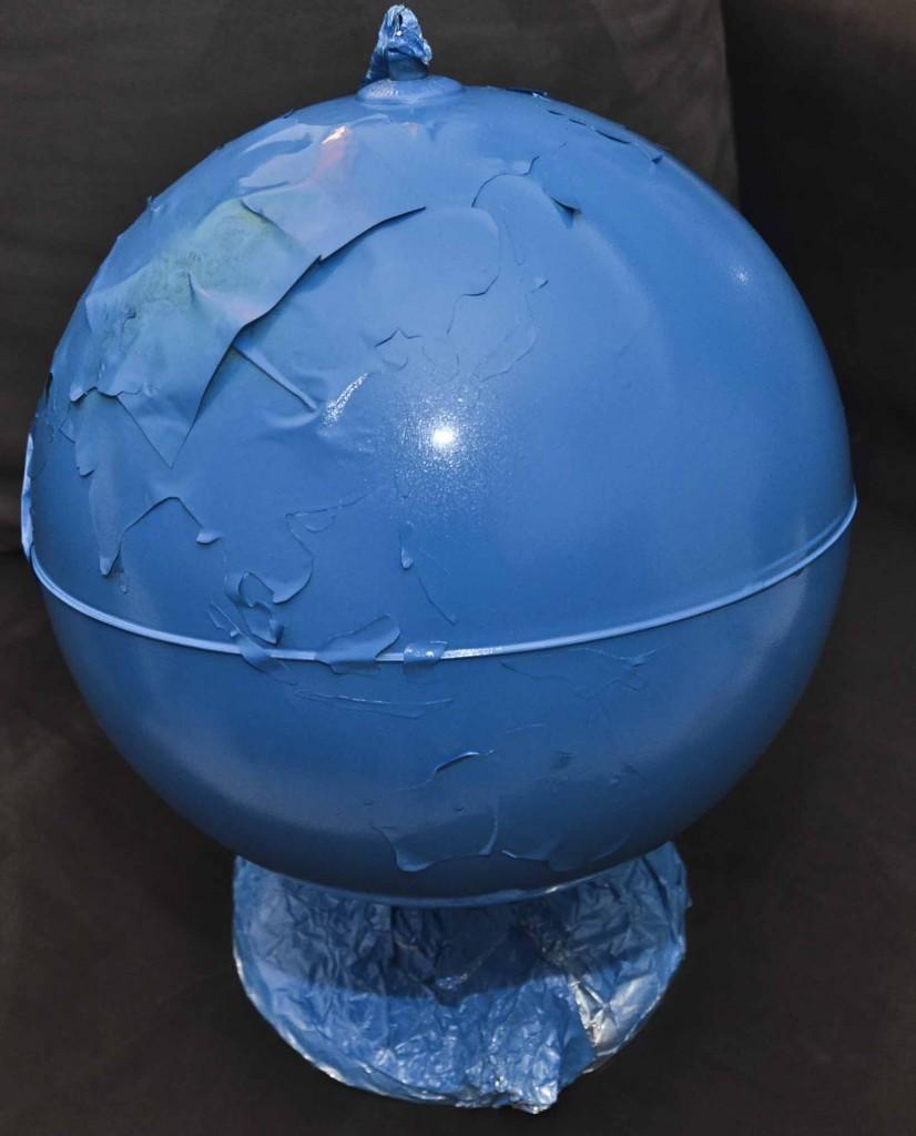 globe montessori bleu