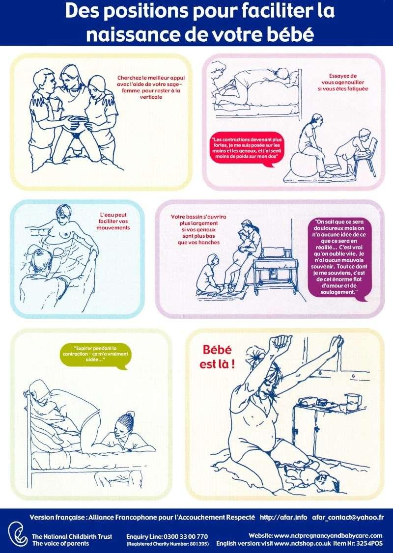 positions pour accouchement naturel et physiologique