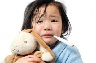 enfant malade avec de la fièvre