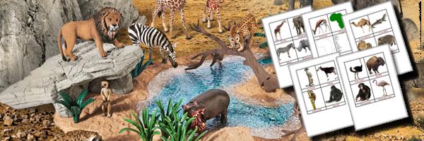 apprendre les animaux montessori schleich