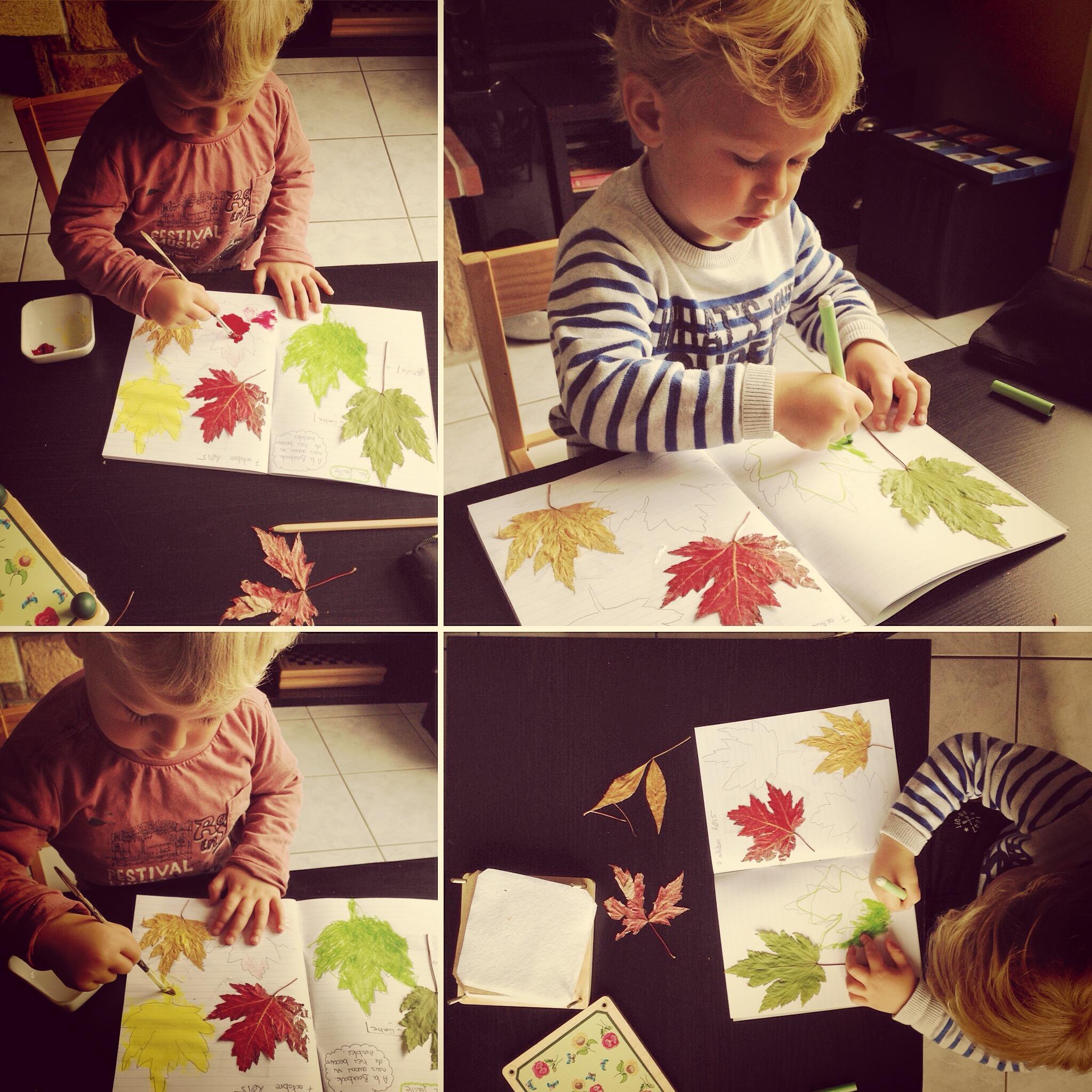 enfant et cahier nature