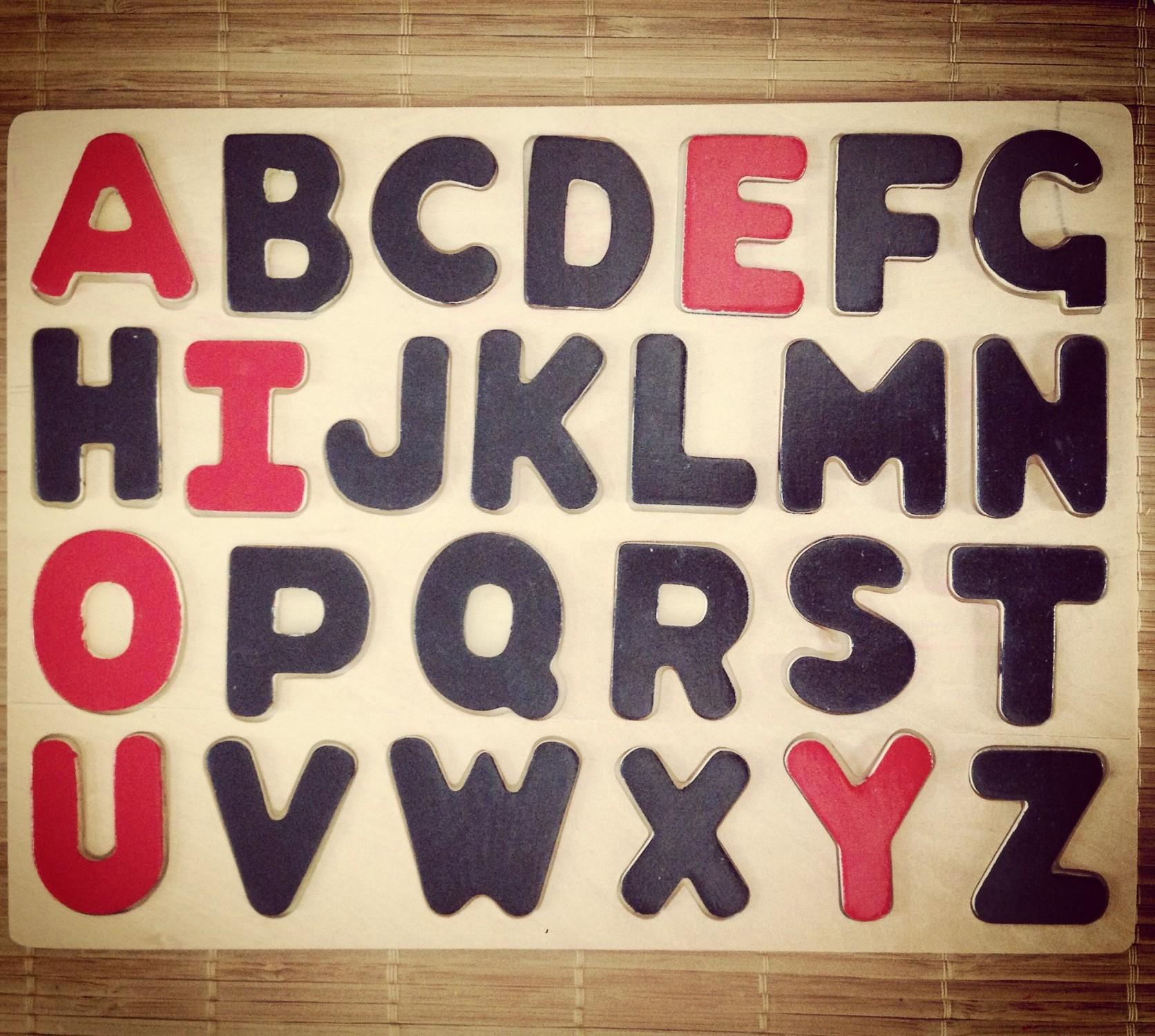 alphabet bois majuscule