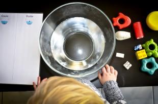 Activité Montessori Coule Flotte