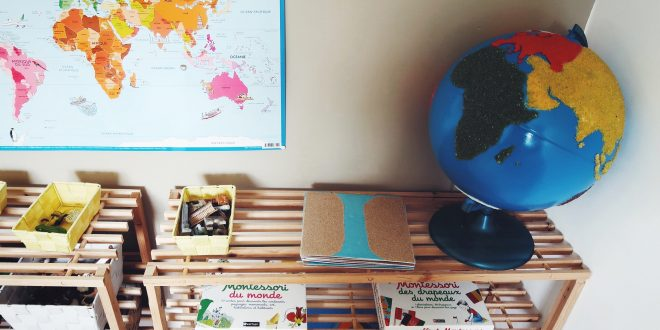 Matériel Montessori de géographie