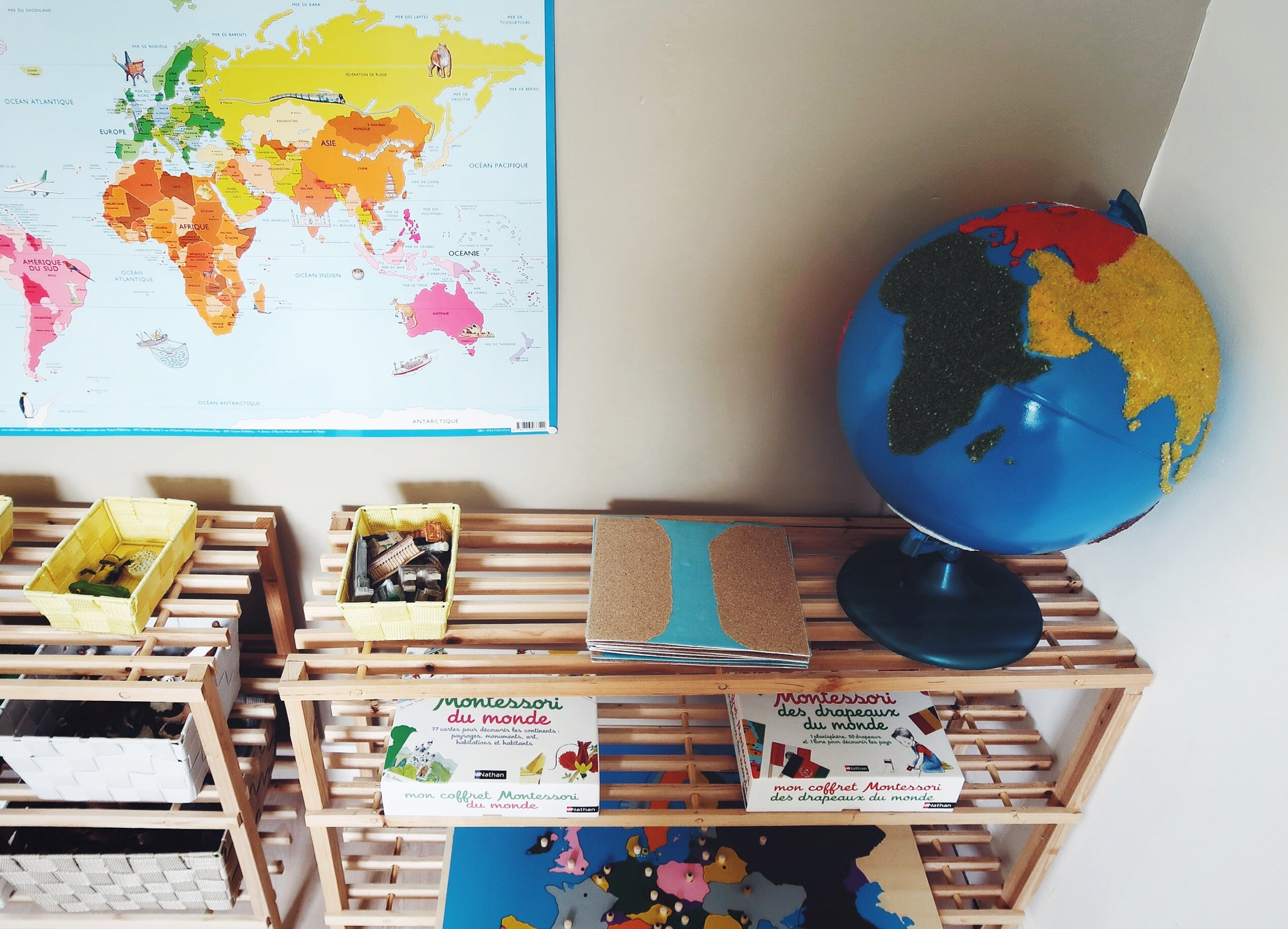 Notre matériel Montessori de géographie
