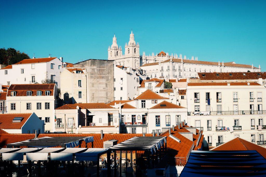 Vue Belvédère Portas do sol à Lisbonne