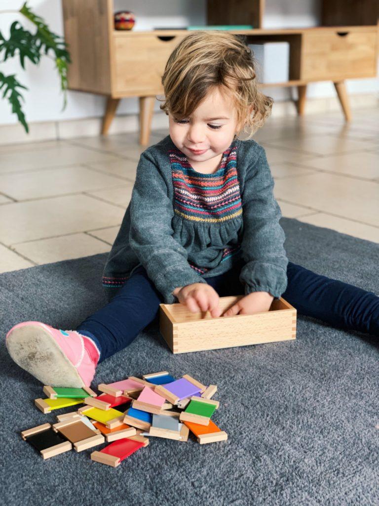 Boite de couleurs Montessori